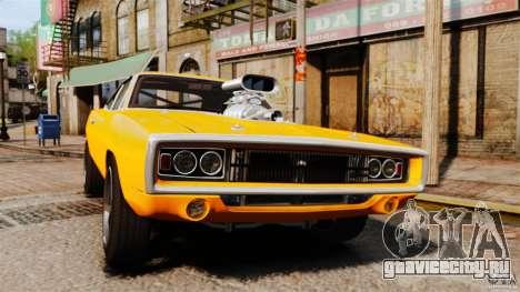 Dodge Charger RT 1970 для GTA 4 вид изнутри