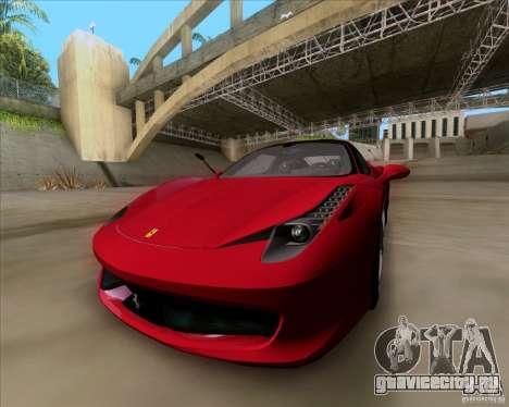 Ferrari 458 Italia V12 TT Black Revel для GTA San Andreas вид справа