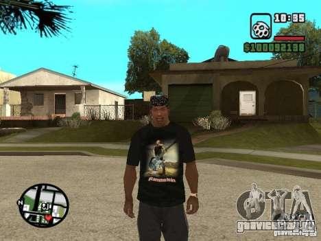 Футболка Rammstein v1 для GTA San Andreas третий скриншот