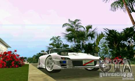 Mazda RX7 tuning для GTA Vice City вид изнутри