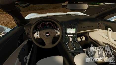Chevrolet Corvette C6 2010 Convertible для GTA 4 вид сзади