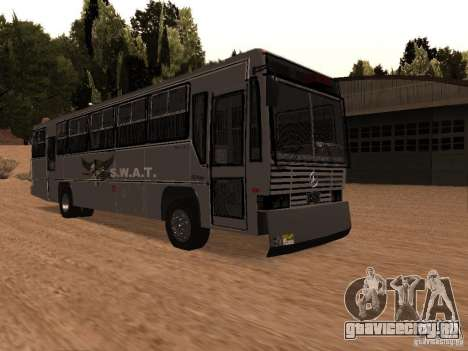 Mercedes Benz SWAT Bus для GTA San Andreas вид справа