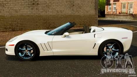 Chevrolet Corvette C6 2010 Convertible для GTA 4 вид слева