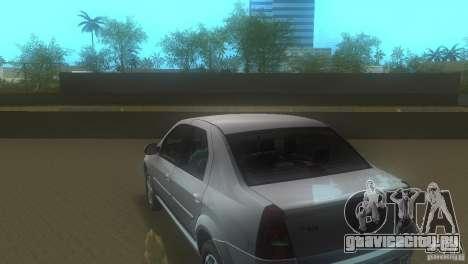 Dacia Logan для GTA Vice City вид сзади слева