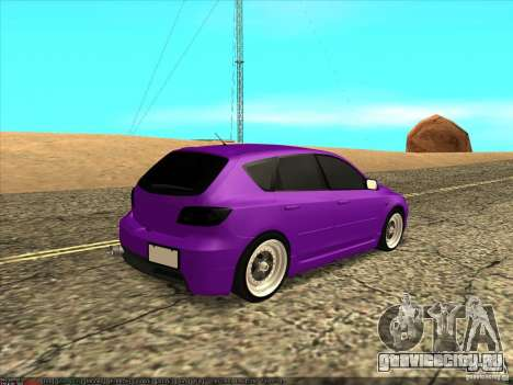 Mazda Speed 3 Stance для GTA San Andreas вид сзади слева