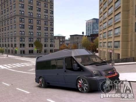 Ford Transit Sport Edition RV 2013 для GTA 4 вид сзади