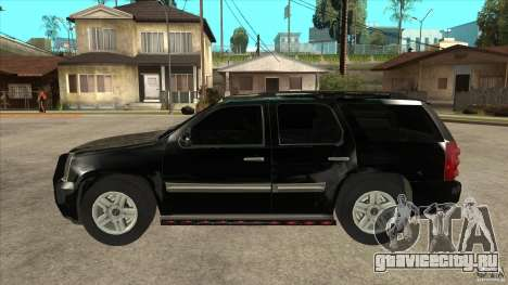GMC Yukon Unmarked FBI для GTA San Andreas вид слева