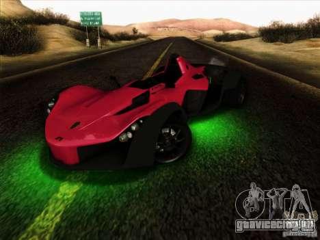 BAC MONO для GTA San Andreas вид изнутри