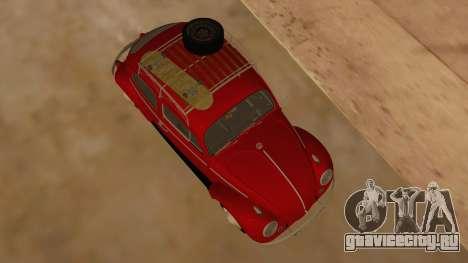 VW Beetle 1966 для GTA San Andreas вид изнутри