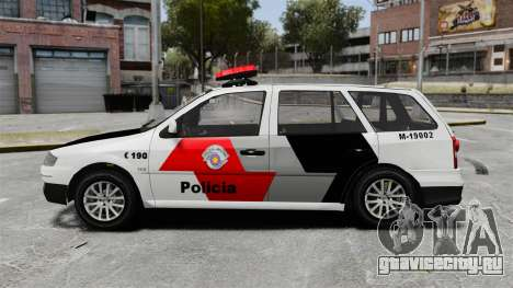 Volkswagen Parati G4 PMESP ELS для GTA 4 вид слева