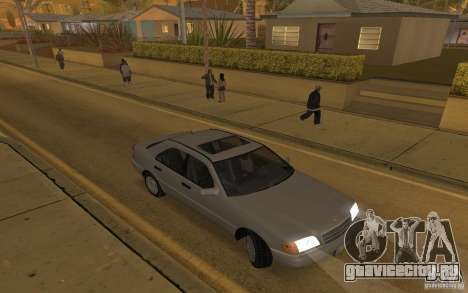 Mercedes Benz C220 для GTA San Andreas вид изнутри