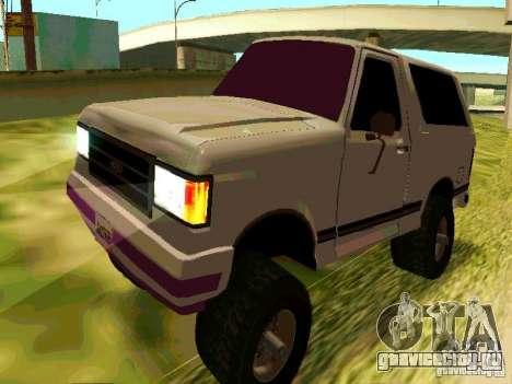 Ford Bronco 1990 для GTA San Andreas