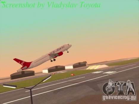 Airbus A320-211 Virgin Atlantic для GTA San Andreas вид справа