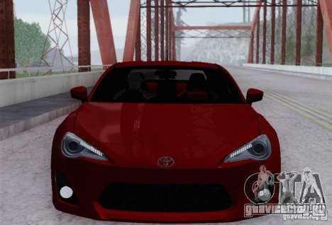 Toyota GT86 для GTA San Andreas вид сверху