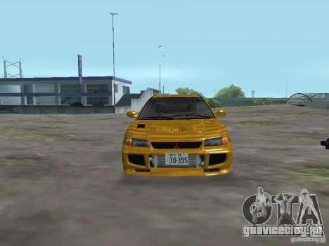 Mitsubishi Lancer Evolution III для GTA San Andreas вид сзади