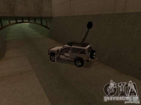 Jeep Cherokee Sport для GTA San Andreas вид изнутри