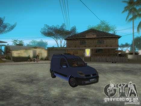 Renault Kangoo II Stock для GTA San Andreas вид изнутри