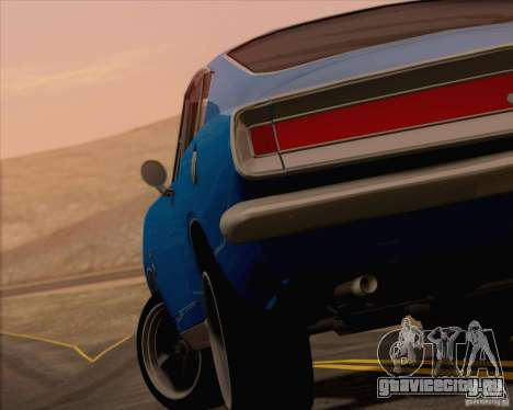 Plymouth Barracuda 1968 для GTA San Andreas салон