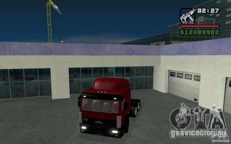 МАЗ-643068 для GTA San Andreas вид сзади слева