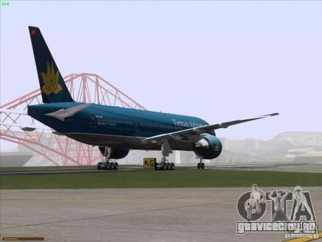Boeing 777-2Q8ER Vietnam Airlines для GTA San Andreas вид снизу