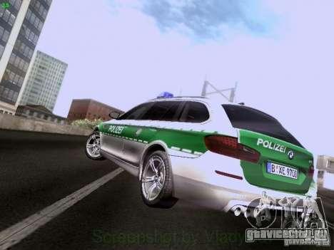 BMW M5 Touring Polizei для GTA San Andreas вид сзади слева