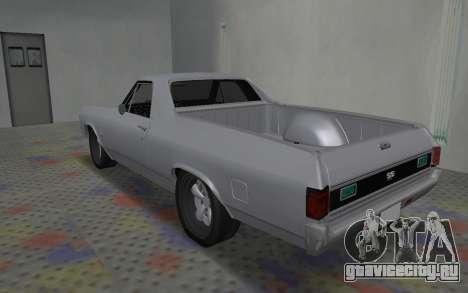 Chevrolet El Camino SS для GTA San Andreas вид сзади