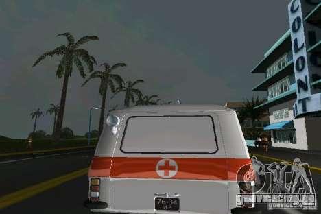 РАФ-22031 Скорая для GTA Vice City вид справа