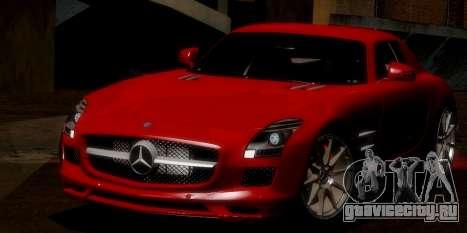 Mercedes-Benz SLS AMG 2010 для GTA San Andreas вид снизу