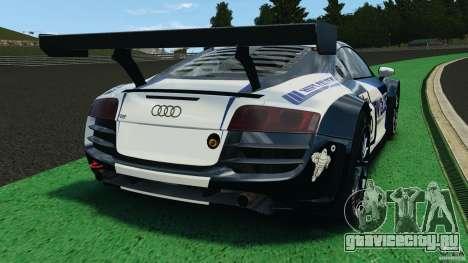 Audi R8 LMS для GTA 4 вид сзади слева