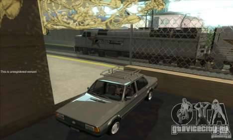 Volkswagen Jetta MK1 для GTA San Andreas вид изнутри