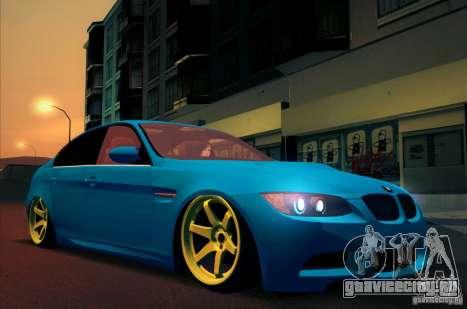 BMW M3 E90 для GTA San Andreas вид сзади