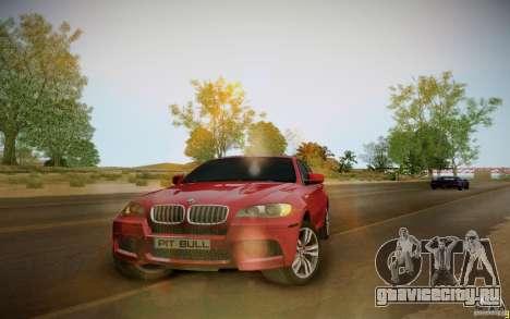 BMW X6 v1.1 для GTA San Andreas вид сзади слева
