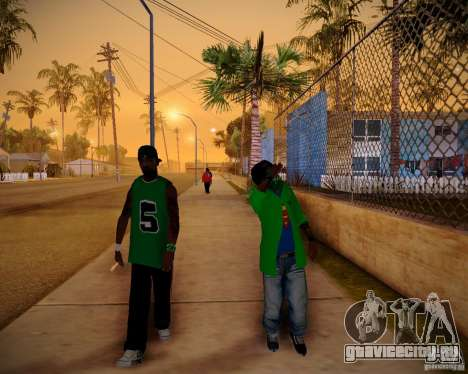 Skins pack gang Grove для GTA San Andreas третий скриншот