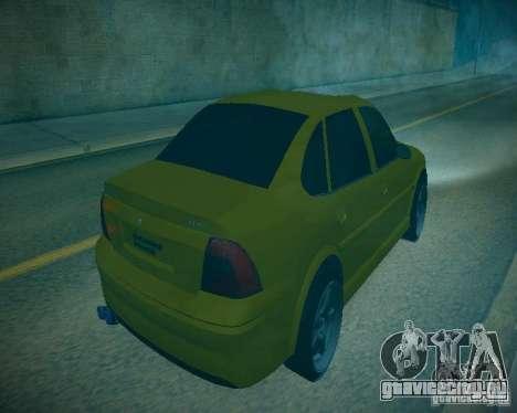 Opel Vectra B для GTA San Andreas вид изнутри