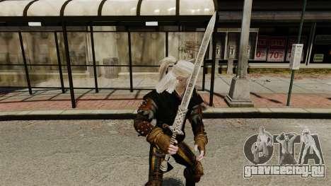 Меч Геральта v1 для GTA 4 второй скриншот