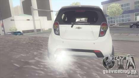 Chevrolet Spark 2011 для GTA San Andreas вид сзади слева