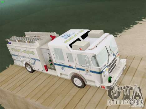 Pierce Pumpers. B.C.F.D. FIRE-EMS для GTA San Andreas вид сзади