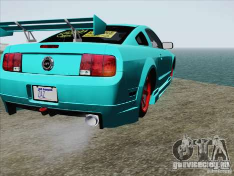 Ford Mustang GT Lowlife для GTA San Andreas вид сверху