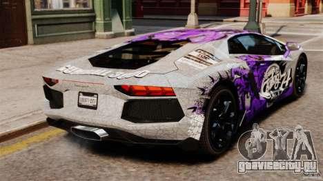 Lamborghini Aventador LP700-4 2012 Galag Gumball для GTA 4 вид сзади слева