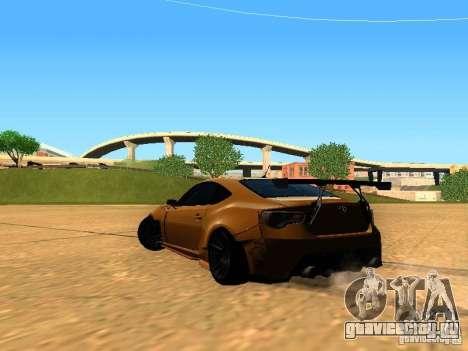 Toyota FT86 Rocket Bunny V2 для GTA San Andreas вид сзади слева