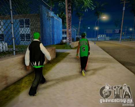 Skins pack gang Grove для GTA San Andreas шестой скриншот