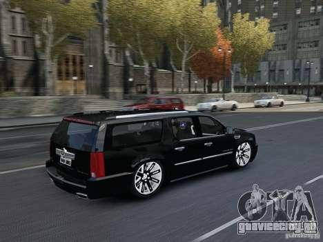 Cadillac Escalade ESV 2012 DUB для GTA 4 вид изнутри