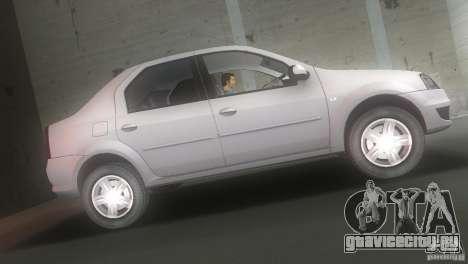 Dacia Logan для GTA Vice City вид слева
