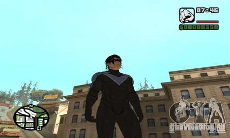 Nightwing skin для GTA San Andreas второй скриншот