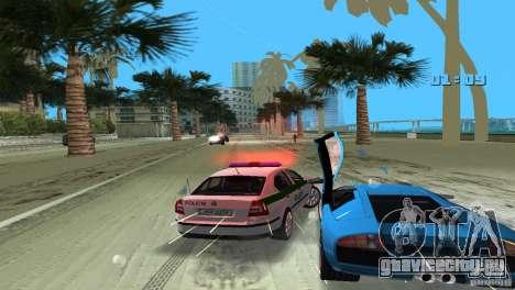 Skoda Octavia 2005 для GTA Vice City вид изнутри
