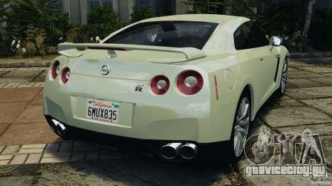 Nissan GT-R 2012 Black Edition для GTA 4 вид сзади слева
