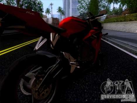 Honda CBR 600 RR для GTA San Andreas вид сзади слева