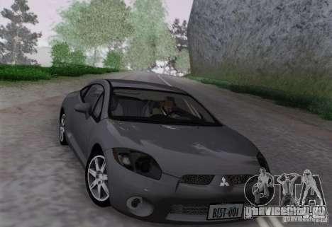 Mitsubishi Eclipse GT V6 для GTA San Andreas вид сзади слева