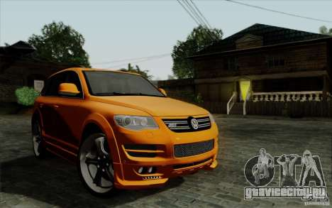 Volkswagen Touareg R50 Light для GTA San Andreas вид изнутри