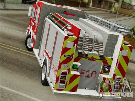 Pierce Saber LAFD Engine 10 для GTA San Andreas вид изнутри